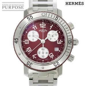 エルメス HERMES クリッパーダイバー クロノグラフ CL2 918 メンズ 腕時計 デイト ボ...
