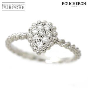 ブシュロン セルパンボエム #50 リング ダイヤ 0.14ct K18WG 18金 750 指輪 ...