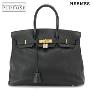 エルメス HERMES バーキン 35 ハンド バッグ トゴ ブラック ゴールド 金具