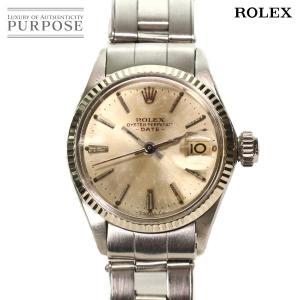 ロレックス ROLEX オイスターパーペチュアル デイト 6517 レディース 腕時計 シルバー 文...
