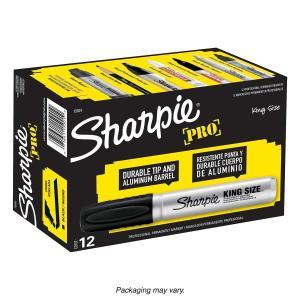 シャーピー プロ キングサイズ 油性マーカー 極太 ブラック 12本入り|purrbase-store