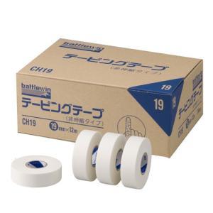 ニチバン バトルウィンテーピングテープ 非伸縮タイプ 19mm幅 12m巻き 24巻入り purrbase-store