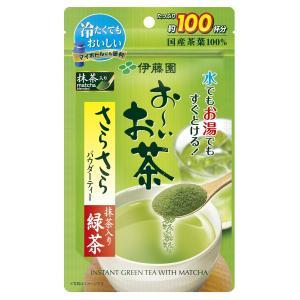 伊藤園 おーいお茶 抹茶入りさらさら緑茶 80g (チャック付き袋タイプ)|purrbase-store