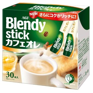 AGF ブレンディスティック カフェオレ 30本 【粉末】 【個包装 スティックタイプ】|purrbase-store