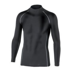 おたふく手袋 ボディータフネス 保温 コンプレッション パワーストレッチ 長袖 ハイネックシャツ JW-170 ブラック M|purrbase-store
