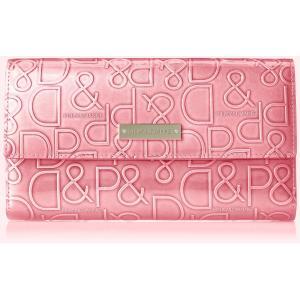 [ピンキーアンドダイアン] 長財布 【ドルチェ】 エナメル ロゴ型押し ピンク purrbase-store