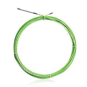 通線 ワイヤー グリーンスリムライン スリムヘッド 通線ワイヤー 15M ロッド径 4.0mm スチールワイヤー 通線 入線専用ワイヤー 通線工具|purrbase-store