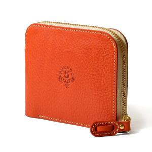 【HUKURO】大きく開く小さな財布 財布 二つ折り メンズ レディース 本革 革 レザー 栃木レザー 日本製 (オレンジ) purrbase-store