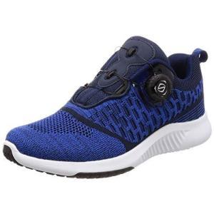 [フォーセンス] ランニング ウォーキング ダイヤルシューズ 脱ぎ履き イージー スポーツシューズ 運動靴 メンズ スピンオン ネイビー 25.5 cm purrbase-store