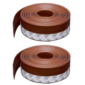 隙間テープ 網戸隙間テープ 冷暖房効率アップ 花粉やホコリ侵入防止 扉の隙間 サッシ シール 耐久性 2個 5m? (茶褐色) purrbase-store