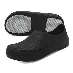 [テノシ] コック シューズ 厨房 作業靴 ワークマン 靴 食品関係作業用 安全靴 調理靴 キッチンシューズ 耐油 耐滑 防水 滑り止め 26.5cm 黒 43 purrbase-store