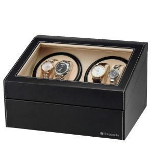 EUNOMIAワインディングマシーン(4本巻き+6本収納) ウォッチワインダー 自動巻き時計ワインディングマシーン 日本製 マブチモーター 超静音設計 高級 腕時計自|purrbase-store