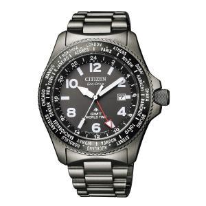 [シチズン] 腕時計 プロマスター エコ・ドライブ LANDシリーズ GMT BJ7107-83E メンズ ブラック|purrbase-store