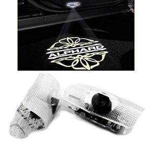 Ltsplay カーテシライト ドアウェルカムライト カーテシランプ LEDロゴ投影 トヨタ20系アルファード30系 カーテシ 2個セット車用ドアランプ for Alphard 3|purrbase-store
