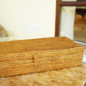 アタ製蓋付きカトラリーボックスLサイズ|putihbali