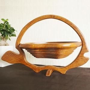 バリ製木製渦巻きバスケット/亀さん|putihbali