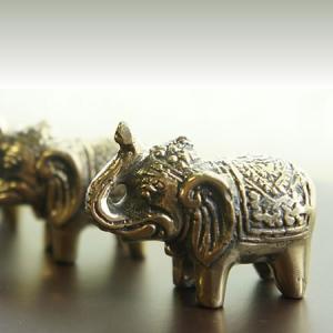 バリ製真鍮ミニ象さん人形(Gold)|putihbali