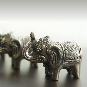 バリ製真鍮ミニ象さん人形(Silver)|putihbali