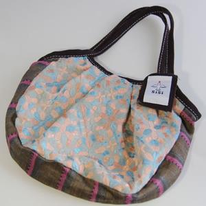 sisiミニグラニーバッグ インド刺繍(ブルー)|putihbali