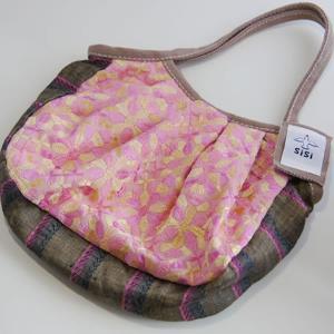 sisiミニグラニーバッグ インド刺繍(ピンク)|putihbali