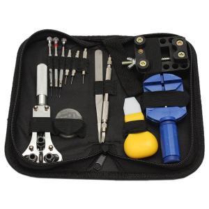 腕時計修理工具 プロ専用 13点セット ケース入り 電池交換、ベルト交換 時計修理