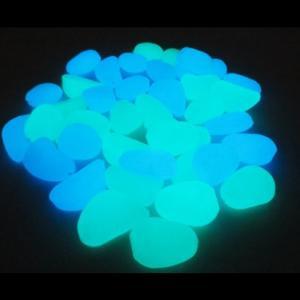 夜光石 蓄光石 青 緑 2色 2〜3cm 40個 プランター 等 インテリア に