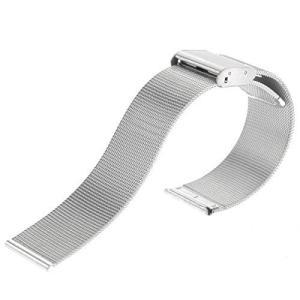 腕時計用ベルト ステンレスメッシュ メタルスライドバンド ミラネーゼブレス 22mm  バネ棒 バネ棒はずし