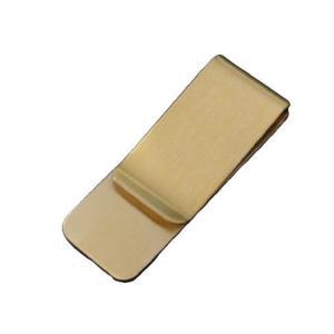 マネークリップ シンプル ゴールドメタルミラー プレーンタイプ スマートペーパークリップ カードクリ...