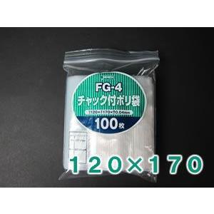 【100枚】 ジャパックス チャック付ポリ袋 40ミクロン (横120×縦170mm) FG-4 putiputiya