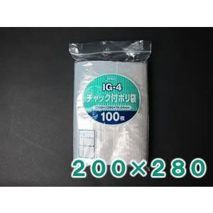 【100枚】 ジャパックス チャック付ポリ袋 40ミクロン (横200×縦280mm) IG-4 putiputiya