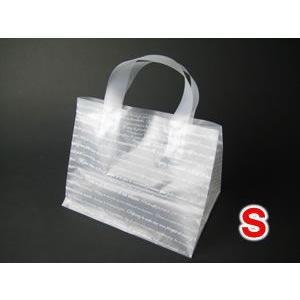 【25枚】 角底ポリ手提げ袋(角底ループ袋) Sサイズ
