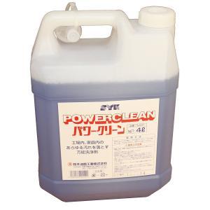 業務用 そうじ洗剤 拭きそうじ 強力 SYK パワークリーン4L 鈴木油脂工業 4934091 S-531|pvd1