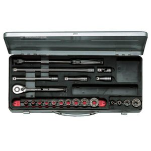 KTC工具 38 9.5sq 6角 スタンダードソケットレンチ セット23点:5.5〜22mm  TB314|pvd1
