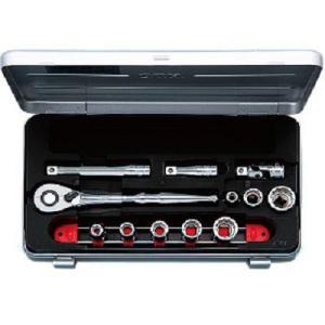 KTC工具 38 9.5sq 6角12角混合 スタンダードソケットレンチ セット 14点:7〜12mm 13〜19mm  TB308X|pvd1