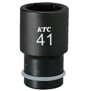 KTC工具 インパクトレンチ用ソケット  ディープ薄肉 ピンリング付 34