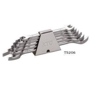 KTC工具 スパナセット ミリ 6本組:5.5x7〜22x24 TS206A pvd1