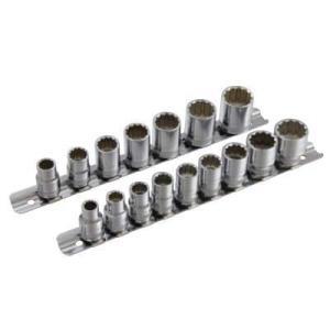 Pro-Auto 38 9.5sq 12角 ボルトナットを痛めない ウエーブソケットハンガーセットインチ  101-31S|pvd1