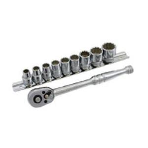 Pro-Auto 38 9.5sq 12角 ウエーブソケット ラチェットハンドル ハンガーセット 10点:8mm〜19mm  101-33M|pvd1