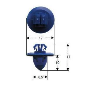 プッシュリベット・内張りクリップ (トヨタ/ハイラックスサーフ・ウィッシュ用) 10個入 NT-574|pvd1