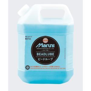 パンク修理 液状潤滑剤 ビードルーブ4L タイヤバイク自動車用 マルニ工業 60117 (W-106)|pvd1