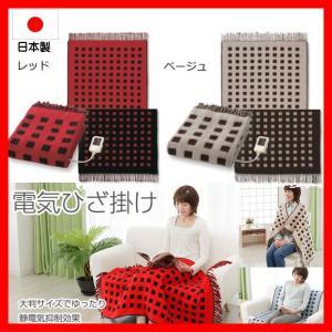 日本製 電気毛布 ひざ掛け あったか毛布 両面使用可 (静電気抑制) 82×140cm|pvd1