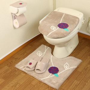 北欧 おしゃれ トイレマット セット 4点 洗浄暖房型 普通型 トイレカバー ベージュ ピンク エトフ オカの写真