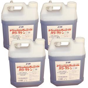 業務用 そうじ洗剤 拭きそうじ 強力 パワークリーン 4L 4個 セット S-531-4 鈴木油脂工業 お得品|pvd1