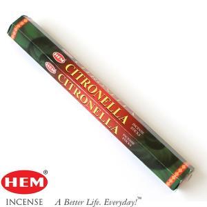 HEM6角香 シトロネラ 約20本  線香/お香/インド香 蚊除け pwanpwan