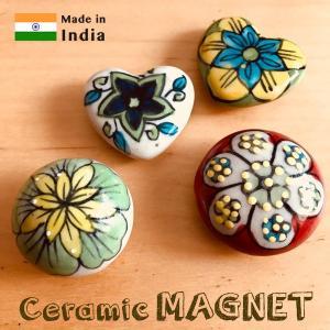 マグネット 手書き陶器のマグネット セラミック ハンドペイント|pwanpwan