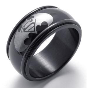 PW 高品質316Lステンレス バットマン 指輪 条件付 送料無料 20961|pwatch2014