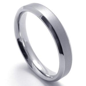 指輪 リング[ラッピング対応] PW 高品質100%純タングステン シルバー銀色 シンプルなデザイン カップルring /  幅4mm 9-26号 条件付送料無料21671|pwatch2014