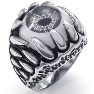 PW 高品質316Lステンレス 義眼 指輪 リング 条件付 送料無料 22221|pwatch2014