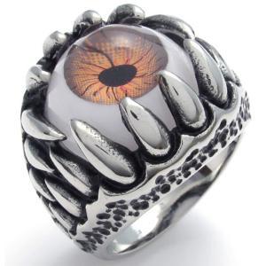 PW 高品質316Lステンレス 義眼 指輪 リング 条件付 送料無料 22222|pwatch2014