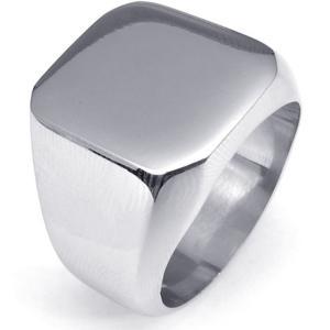 PW 高品質316Lステンレス 印台 指輪 リング 条件付 送料無料 22259